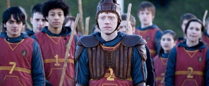 Rupert Grint dans le film Harry Potter et le Prince de Sang-Mêlé.