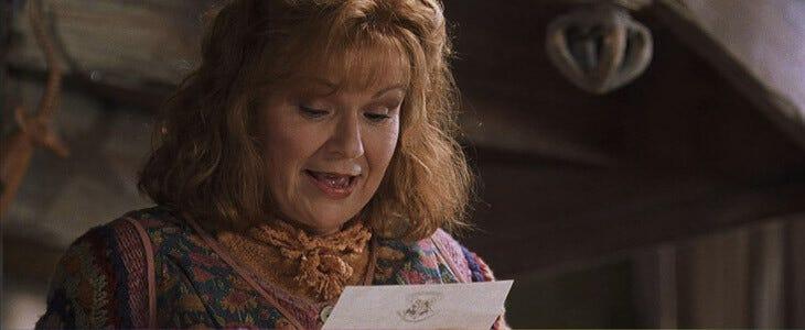 Julie Walters dans la saga Harry Potter