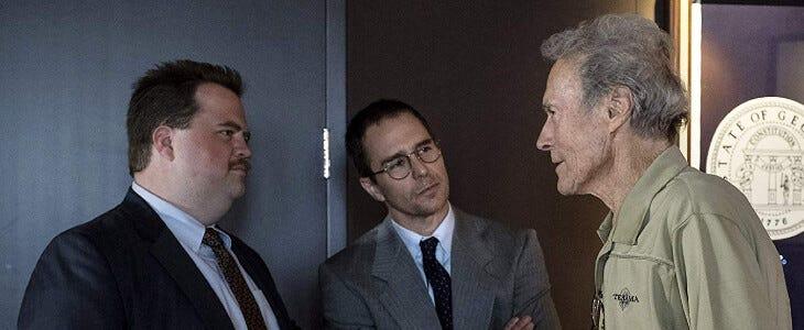 Clint Eastwood sur le tournage du Cas Richard Jewell.
