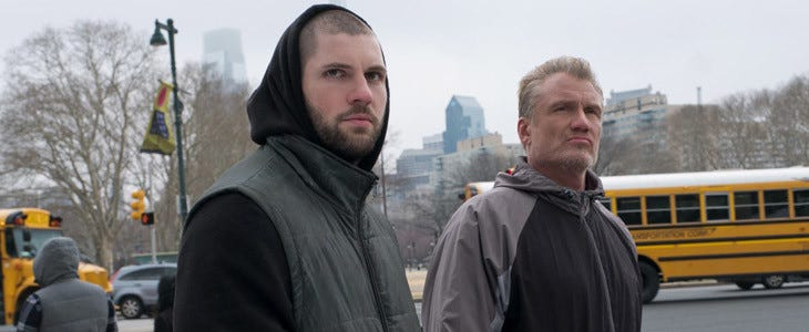 Florian Munteanu et Dolph Lundgren dans Creed II