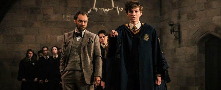 Dumbledore et Norbert Dragonneau dans Les Animaux Fantastiques 2