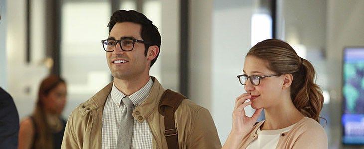 Tyler Hoechlin et Melissa Benoist dans Supergirl