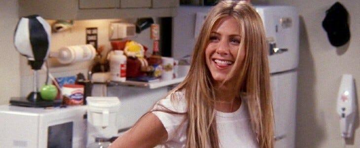 Jennifer Aniston, dans Friends.