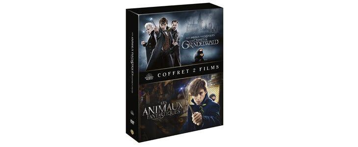 Les deux films de la saga Les Animaux Fantastiques sont disponibles dans un coffret en DVD.