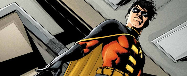 Quand Dick Grayson devient Robin, puis Nightwing.