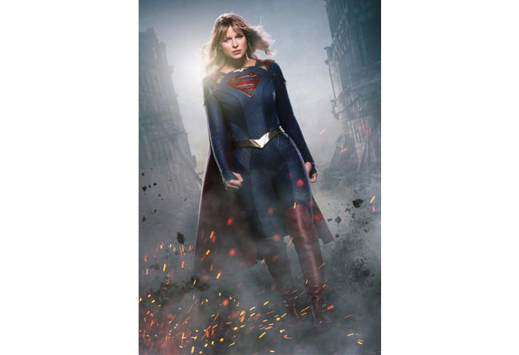 Supergirl dans son nouveau costume
