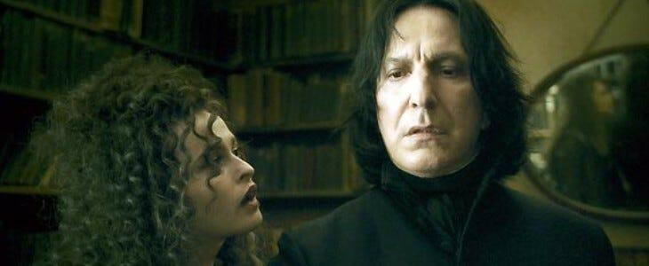 Le professeur Rogue, personnage aux deux visages d'Harry Potter.