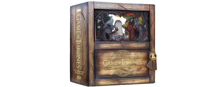 Le coffret collector de l'intégrale saisons 1 à 8 de Game of Thrones