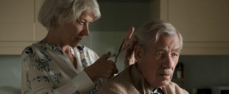 Helen Mirren et Ian McKellen dans L'Art du mensonge.