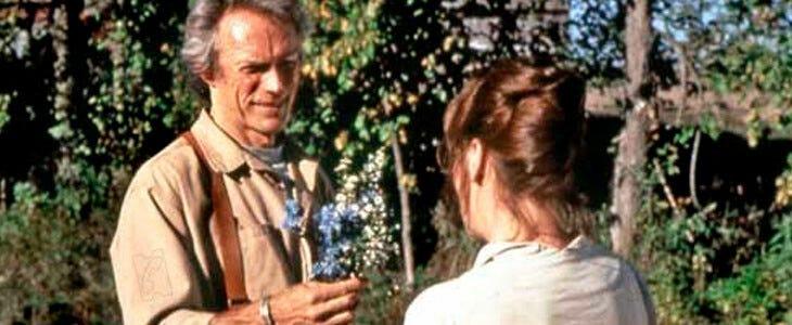 Clint Eastwood et Meryl Streep, dans Sur la route de Madison.