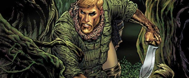 Steve Trevor, dans les comics Wonder Woman.