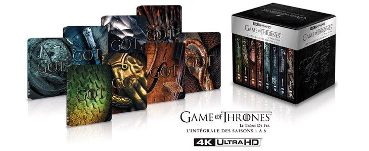 L'intégrale de Game of Thrones est disponible pour la première fois en 4K Ultra HD.
